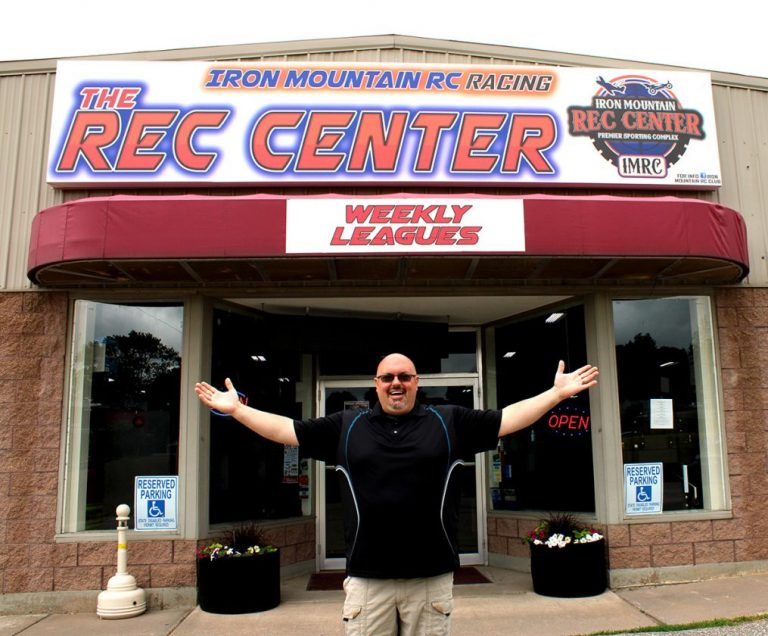 Founder and owner of the Iron Mountain Rec Center, Dave Fraser, stands in front of the IMRC building, where he said construction will start for a restaurant and bar, axe throwing lanes and concrete floors in about two to three months. (Ta'Leah Van Sistine photo)